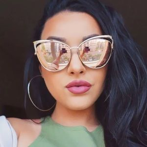 Accessories - Rose gold Cat Eye Sunglasses